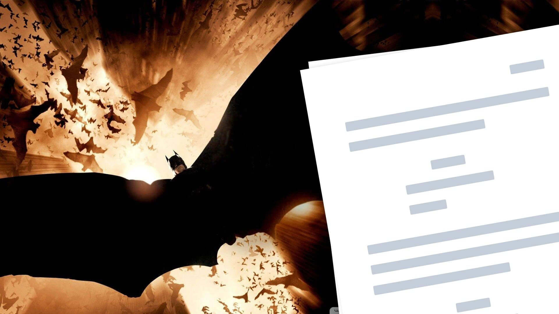 Batman Begins Script PDF Download Quotes, Characters - Plot - Featured