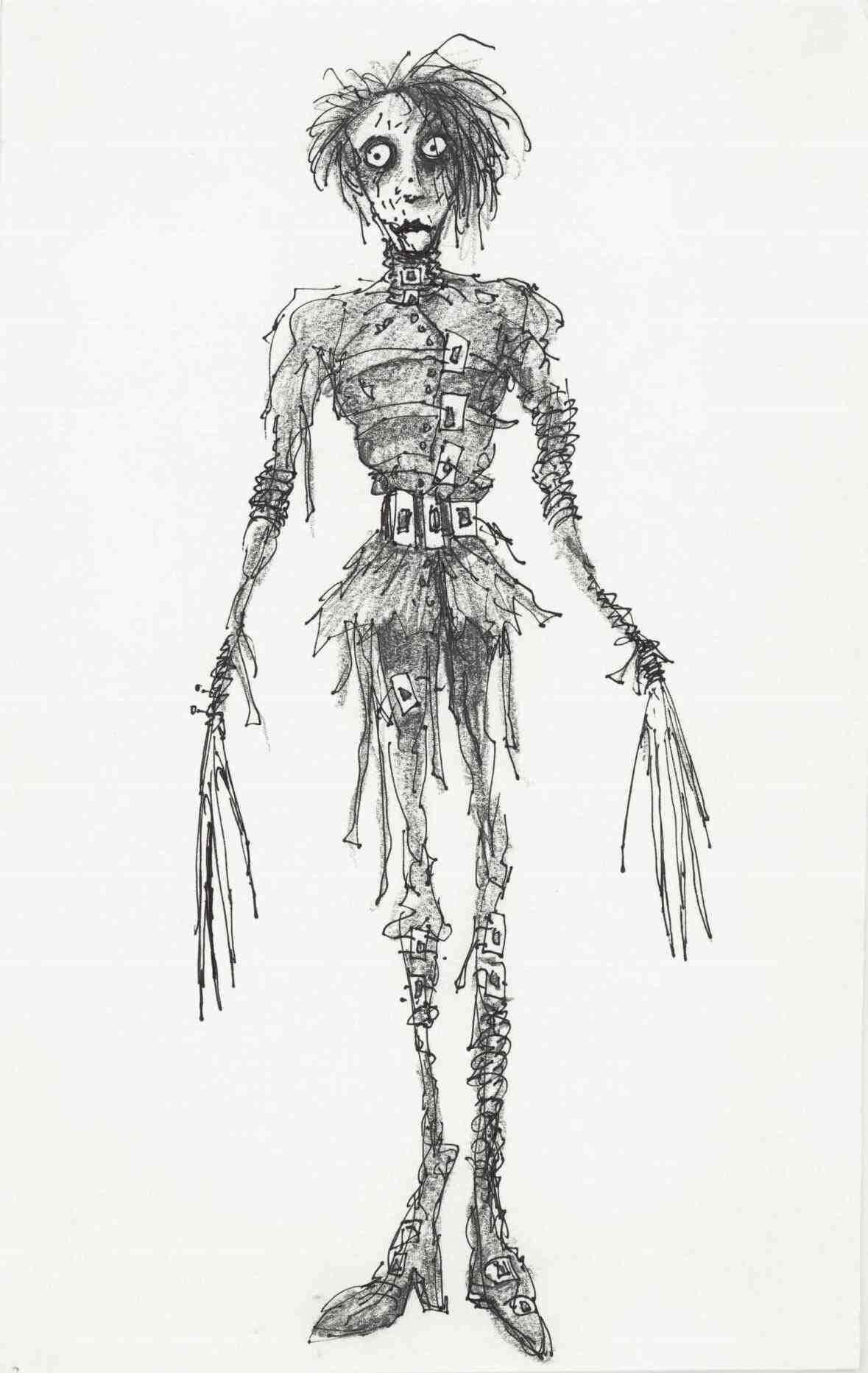 Burtonesque - Tim Burton Drawing Style of Edward Scissorhands