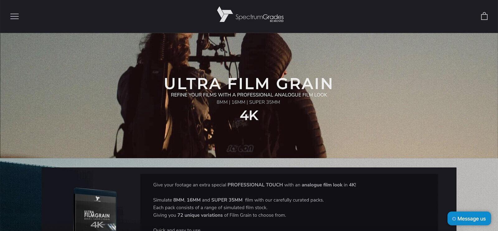 Free Film Grain Overlays - Ultra Film Grain