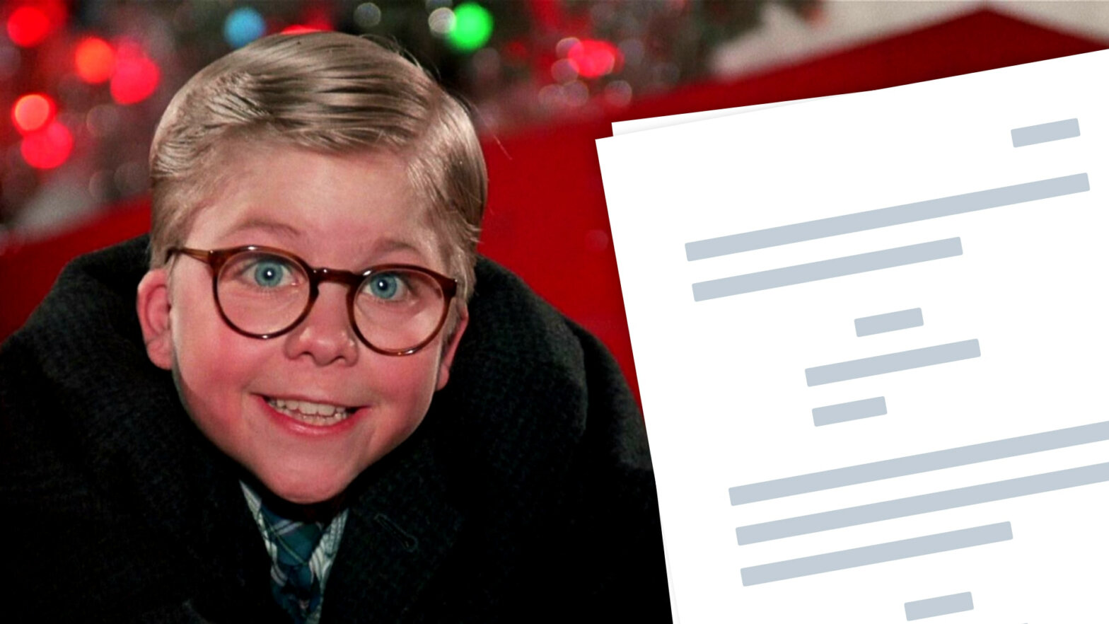 A Christmas Story Script PDF Download Quotes - Characters - Featured