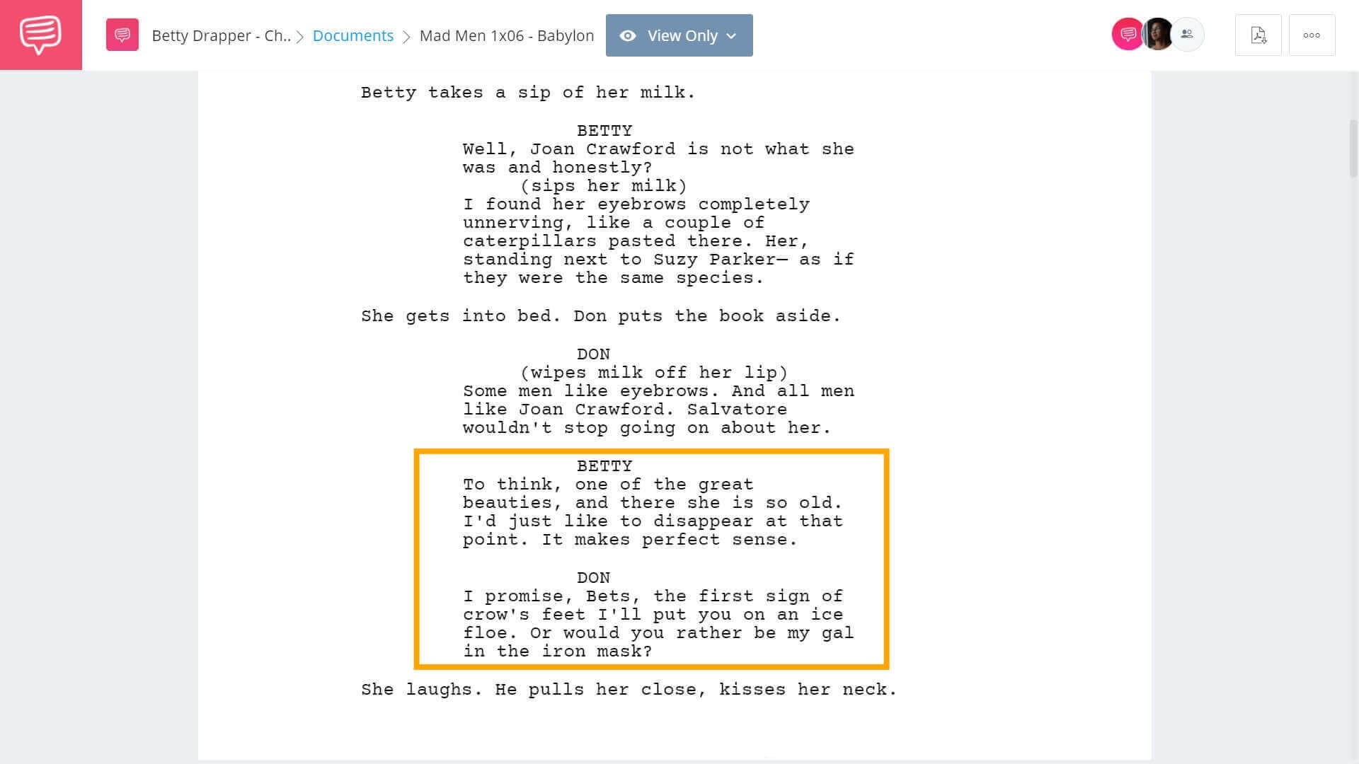 Betty-Draper-How-They-Wrote-Mad-Mens-Most-Tragic-Character-Betty-Draper-Scene-StudioBinder-Screenwriting-Software