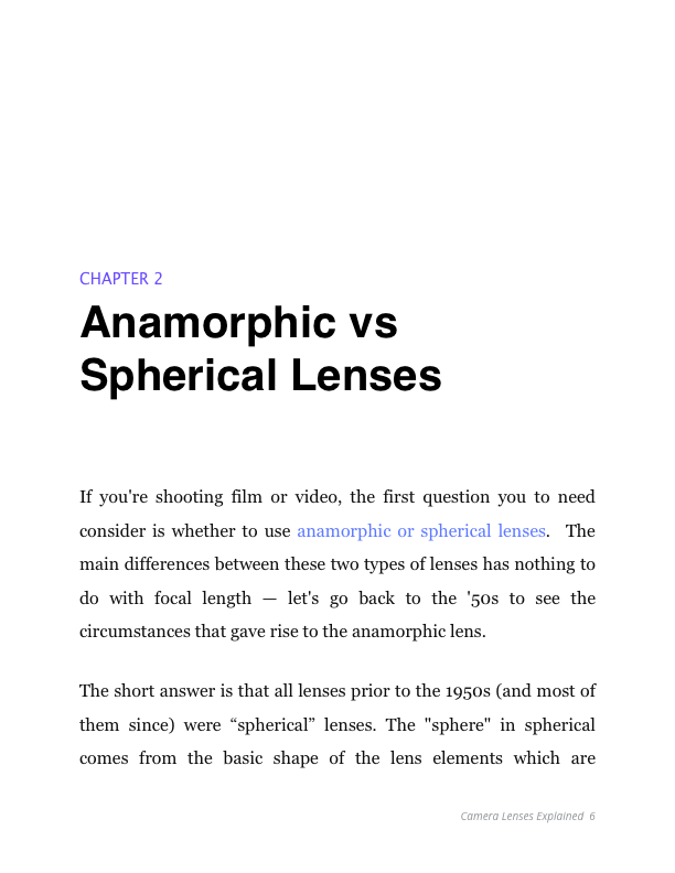 Camera Lenses Explained - Anamorphic vs Spherical Lenses