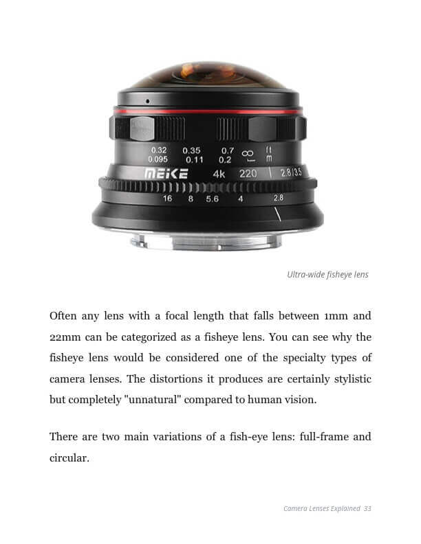 Camera Lenses Explained Ebook - Ultra Wide Angle Lens