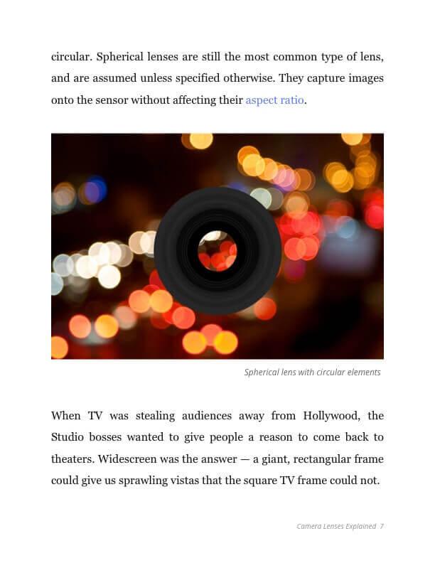 Camera Lenses Explained Ebook - Spherical Lens