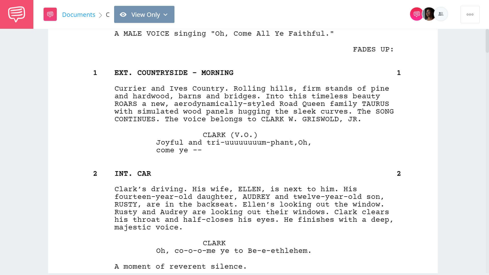 Christmas Vacation Script Teardown - Full Script PDF Download - StudioBinder Screenwriting Software