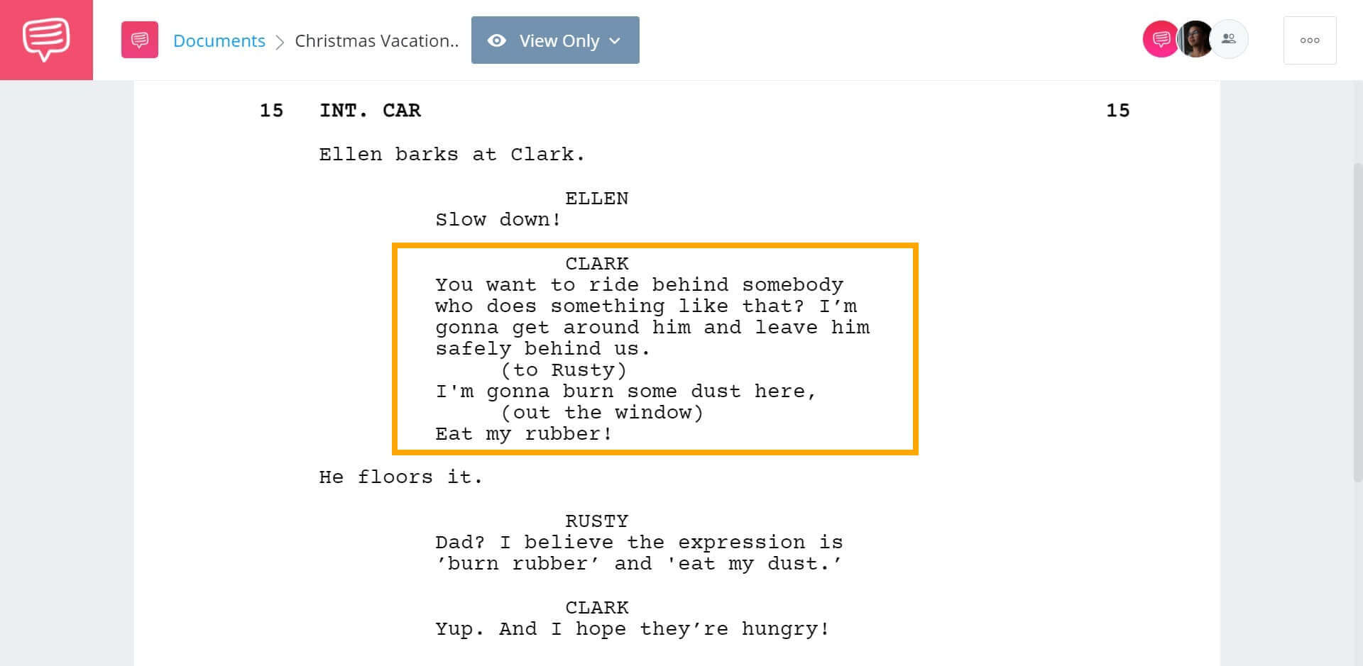 Christmas Vacation Script Teardown - Iconic Lines - StudioBinder Screenwriting Software