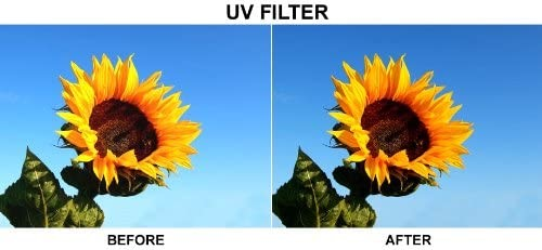 Before and After using a Camera UV protection filter