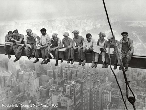 Black and white art by Charles C. Ebbets