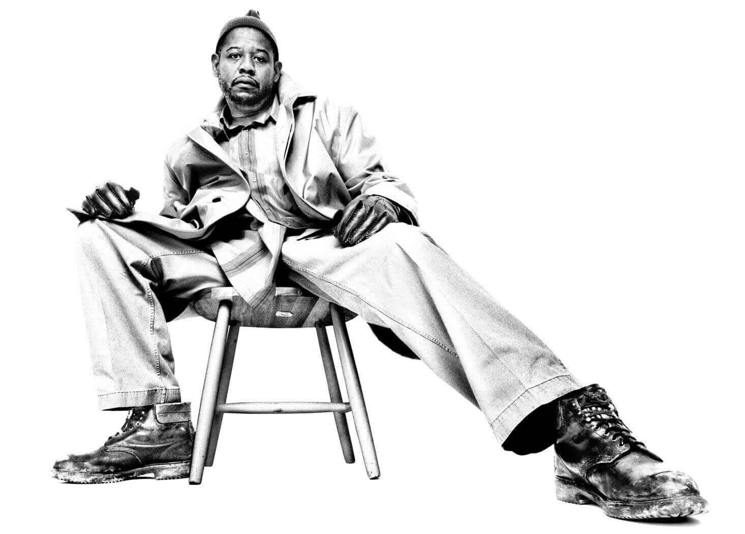 Forest Whitaker — Platon B&W portrait