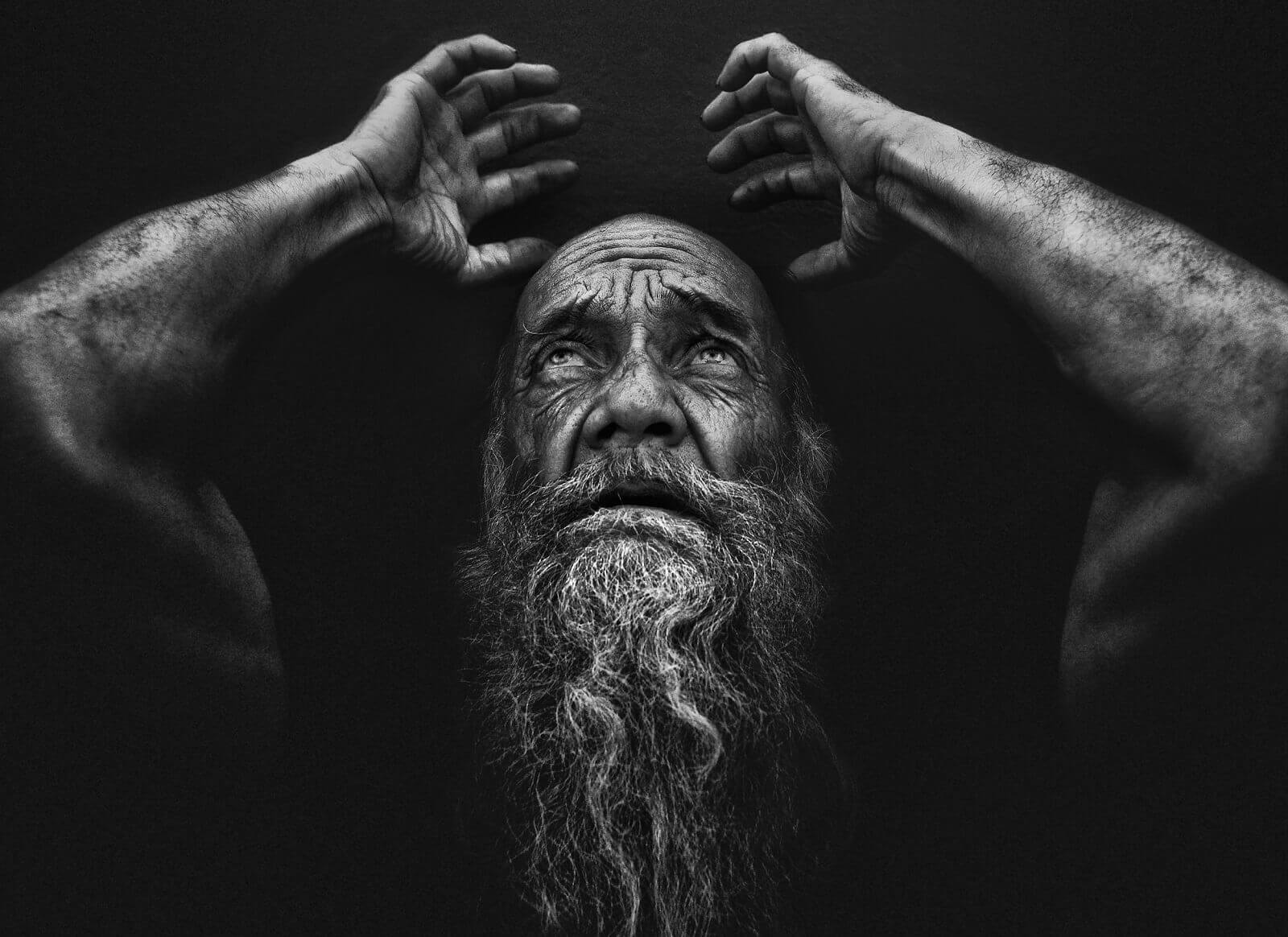 Lee Jeffries Black and white photography