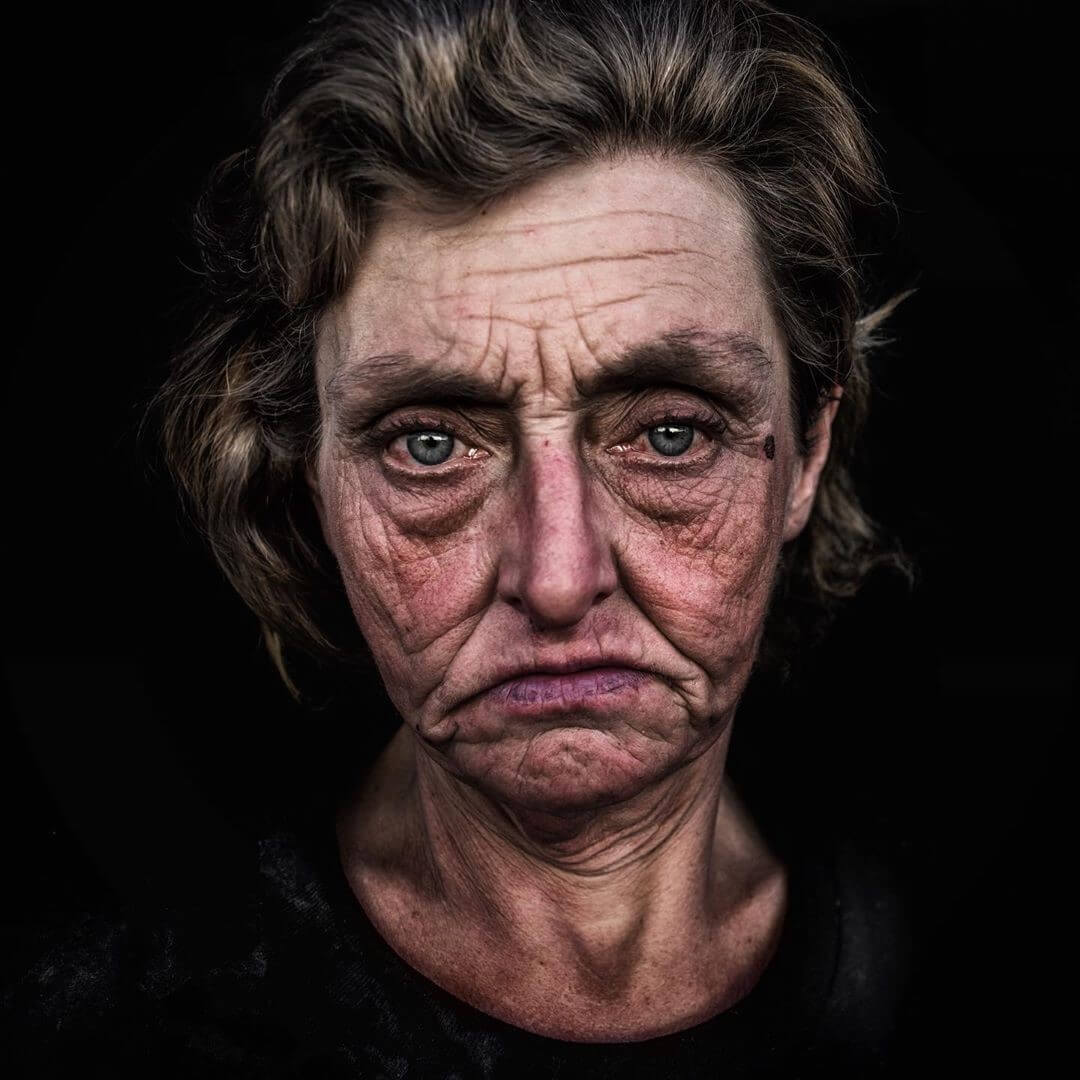 Portrait photo example by Lee Jeffries