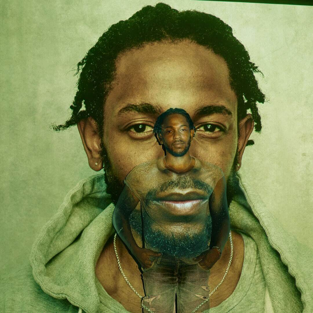 Portrait photograph of Kendrick Lamar by Annie Leibovitz