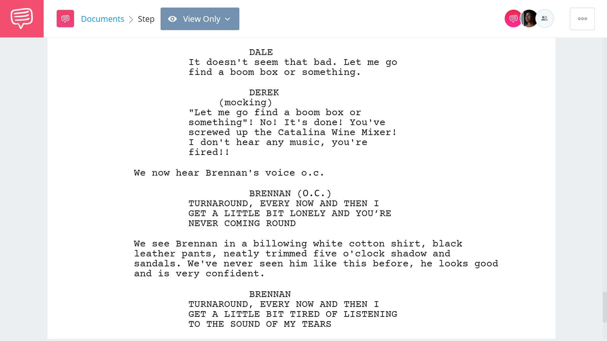 Step Brothers Script Teardown - Catalina Wine Mixer Scene - StudioBinder Screenwriting Software