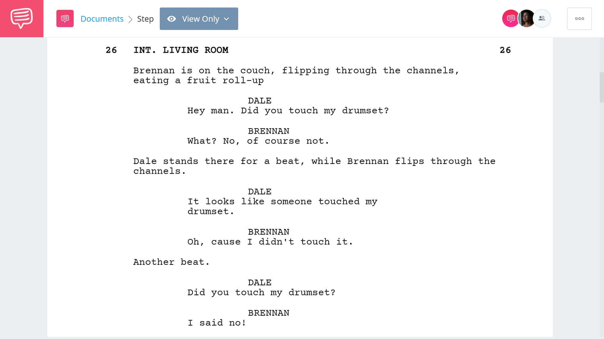 Step Brothers Script Teardown - Drum Set Scene - StudioBinder Screenwriting Software