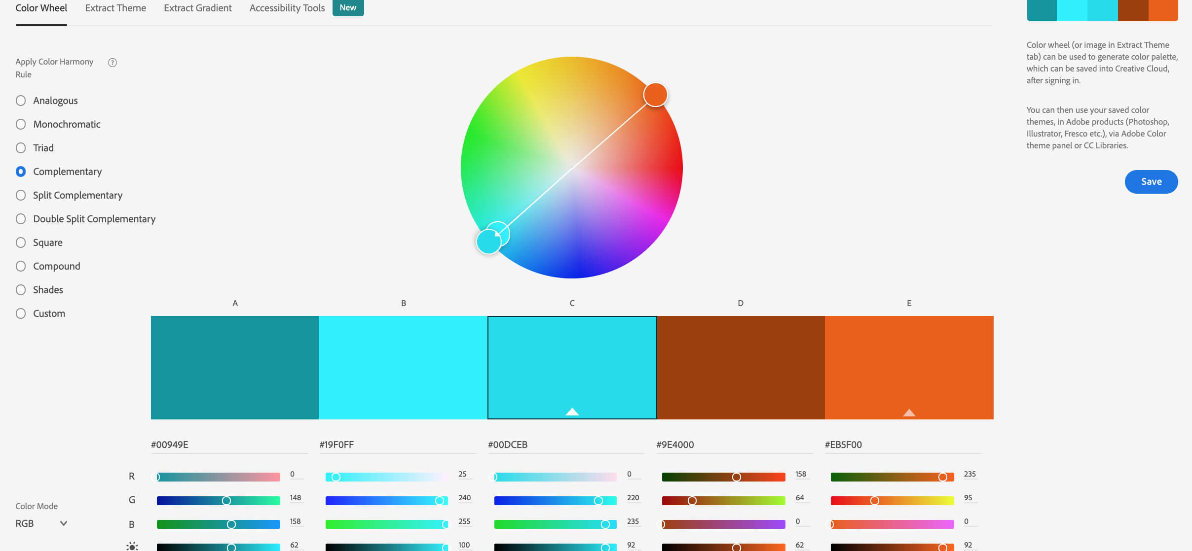 Color Wheel for aesthetically pleasing pictures