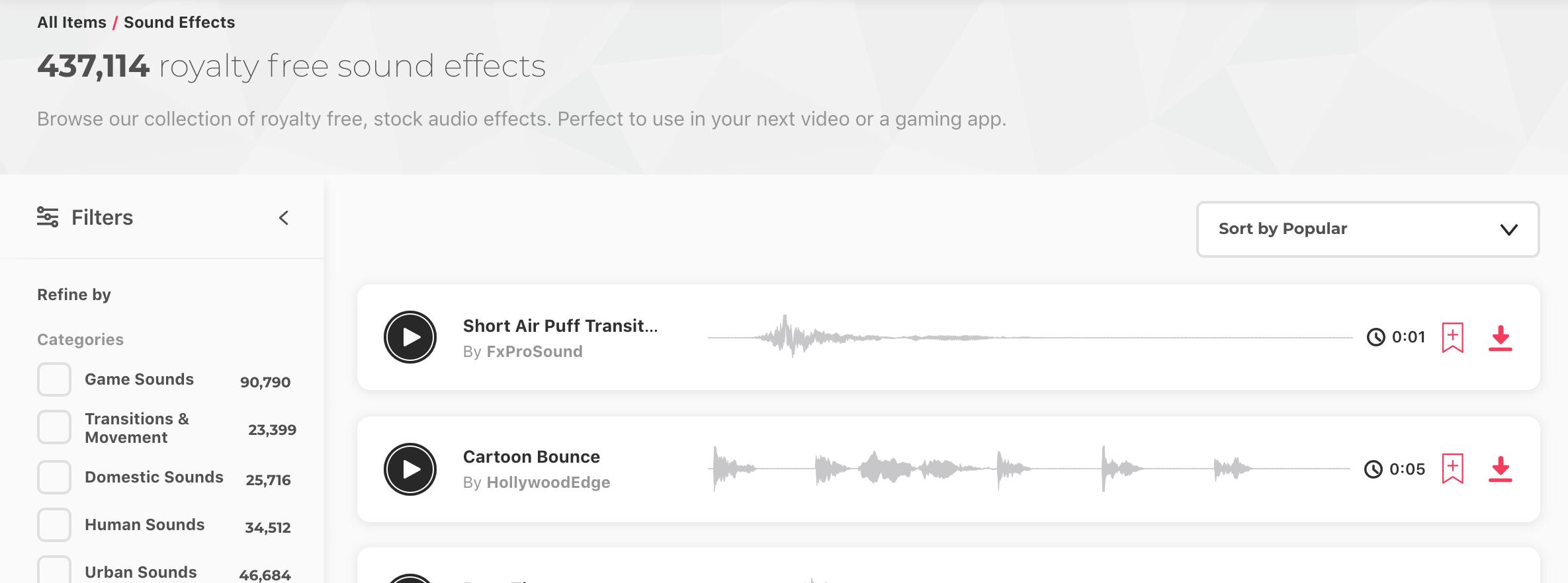 Envato Elements — Free sound clips