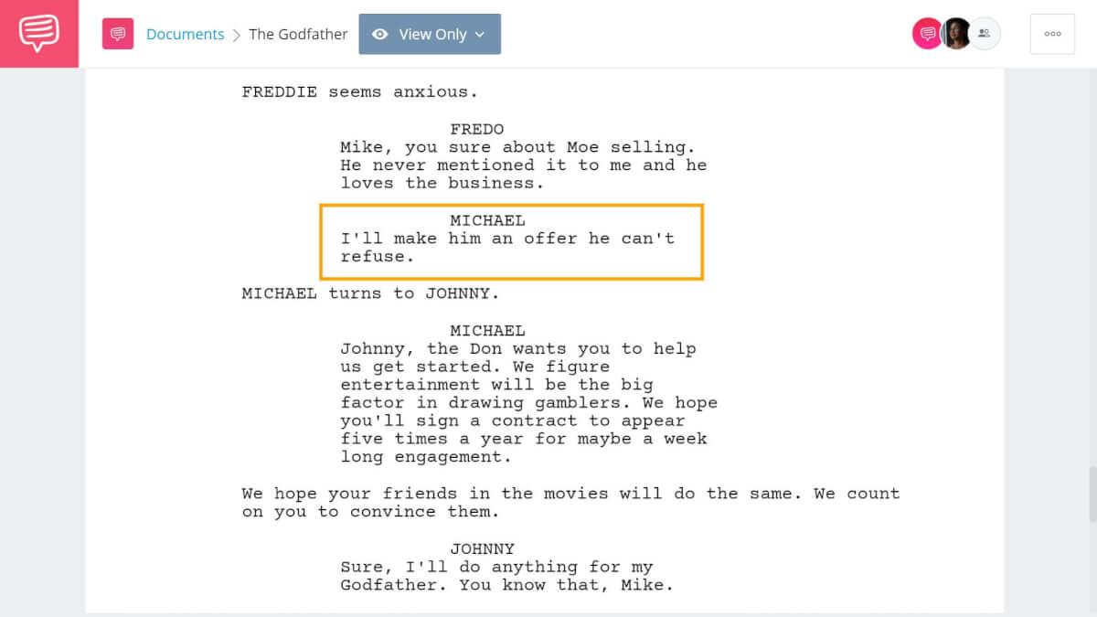 Godfather Script Teardown - An Offer He Can't Refuse - StudioBinder Screenwriting Software