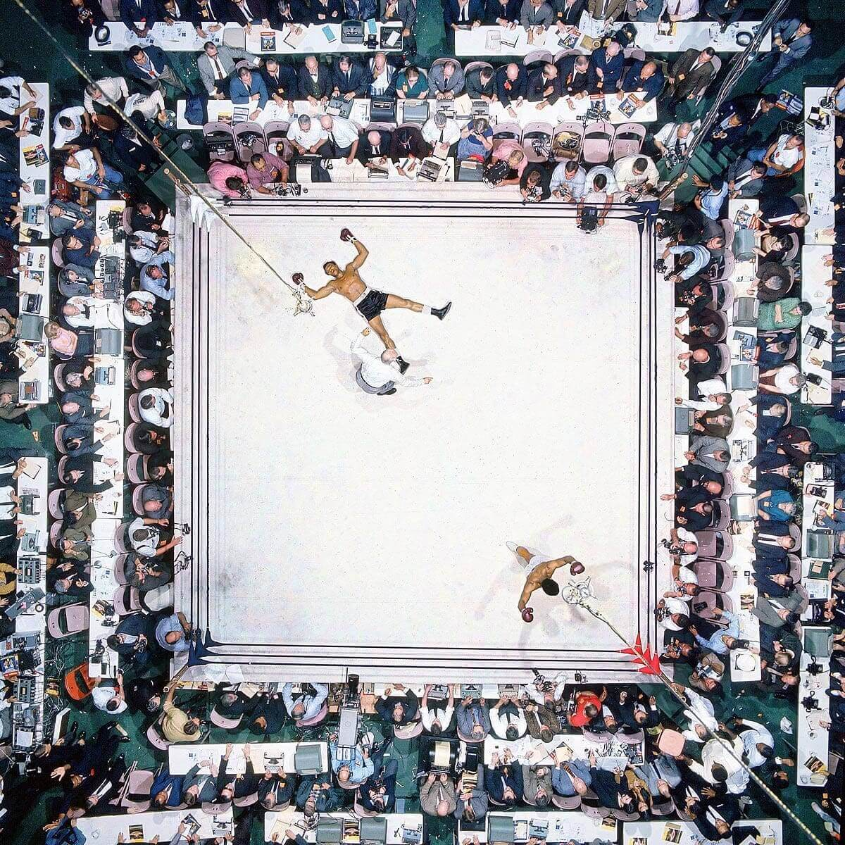 Great Sports Images - Muhammad Ali Stands Victorious After Knocking Out 'Big Cat' Williams - Neil Leifer
