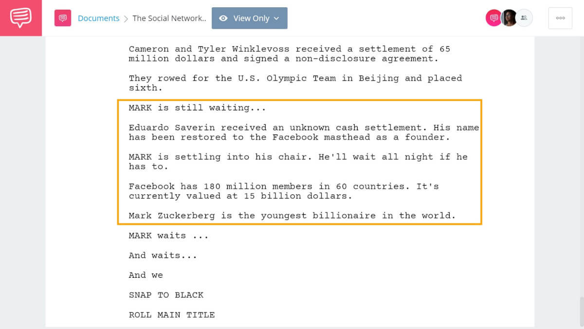 How to End Your Screenplay - The Social Network Ending - StudioBinder Screenwriting Software