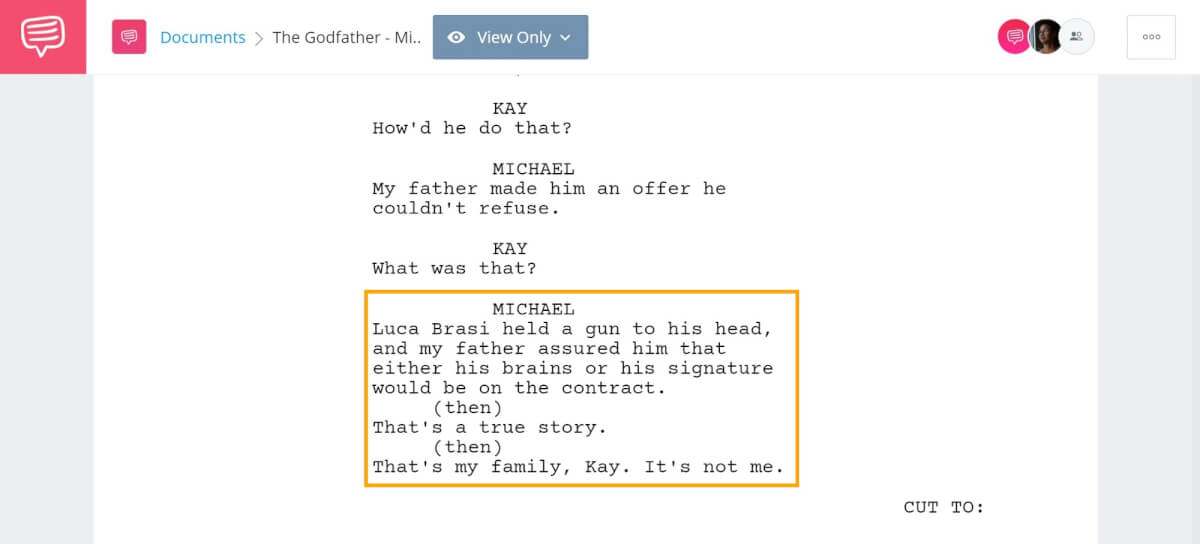 How to End a Story - The Godfather Michael in the Beginning - StudioBinder Screenwriting Software