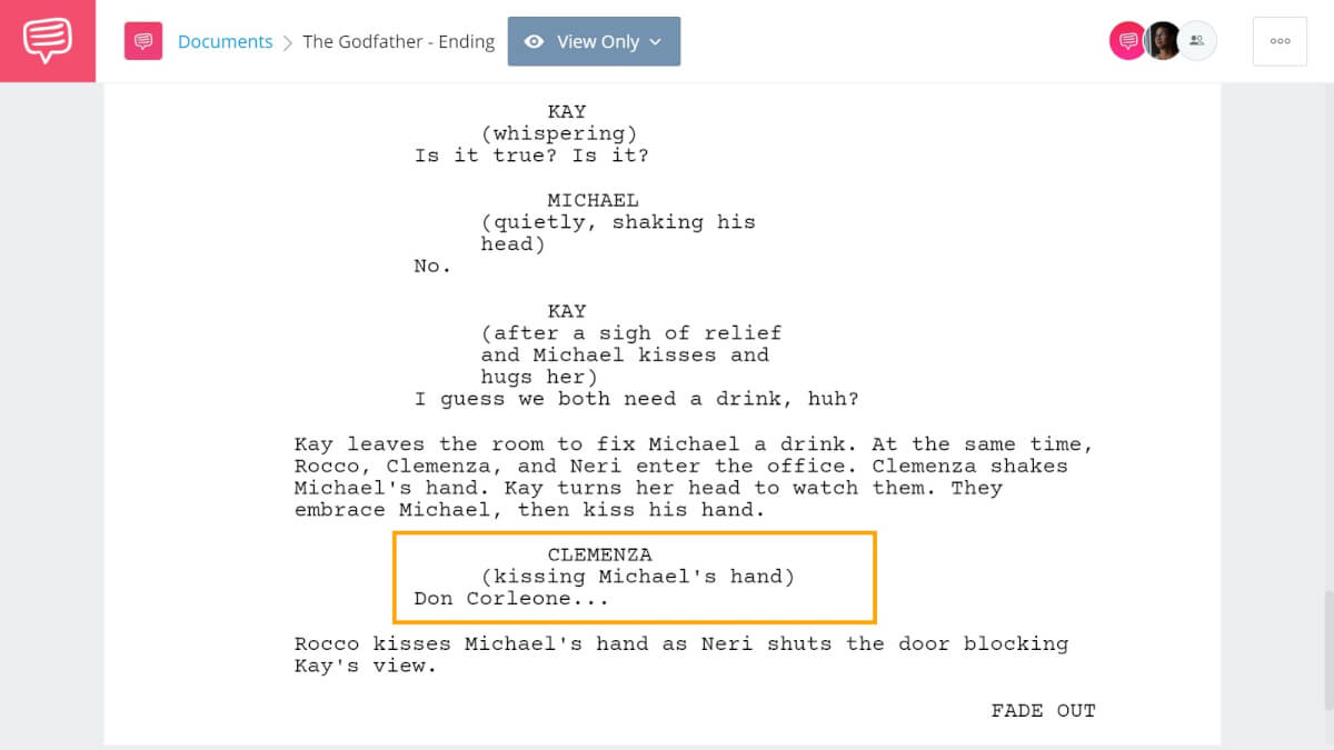 How to End a Story with Example - The Godfather Ending - StudioBinder Screenwriting Software