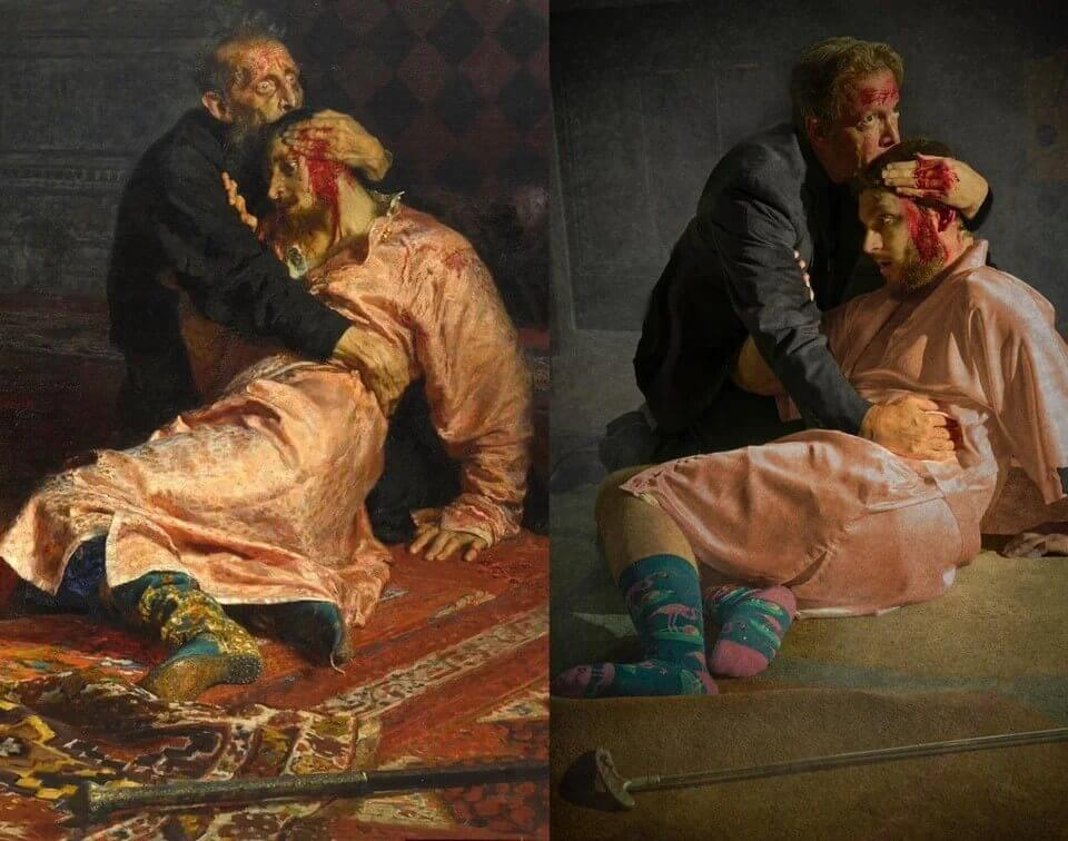 Photography Photo Ideas - Ivan the Terrible and His Son Ivan via Reddit
