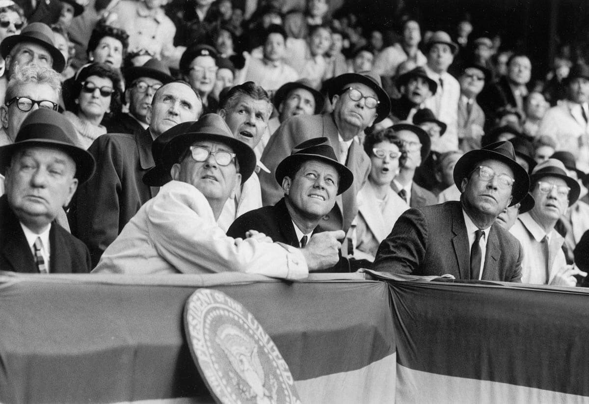 Sports Photoshoot - JFK and LBJ Take in America's Pastime - Neil Leifer