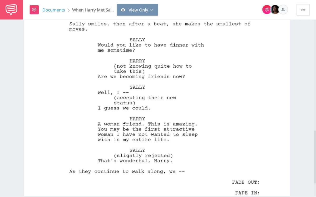 When-Harry-Met-Sally-Script-Breakdown-Friends-Scene-StudioBinder-Screenwriting-Software