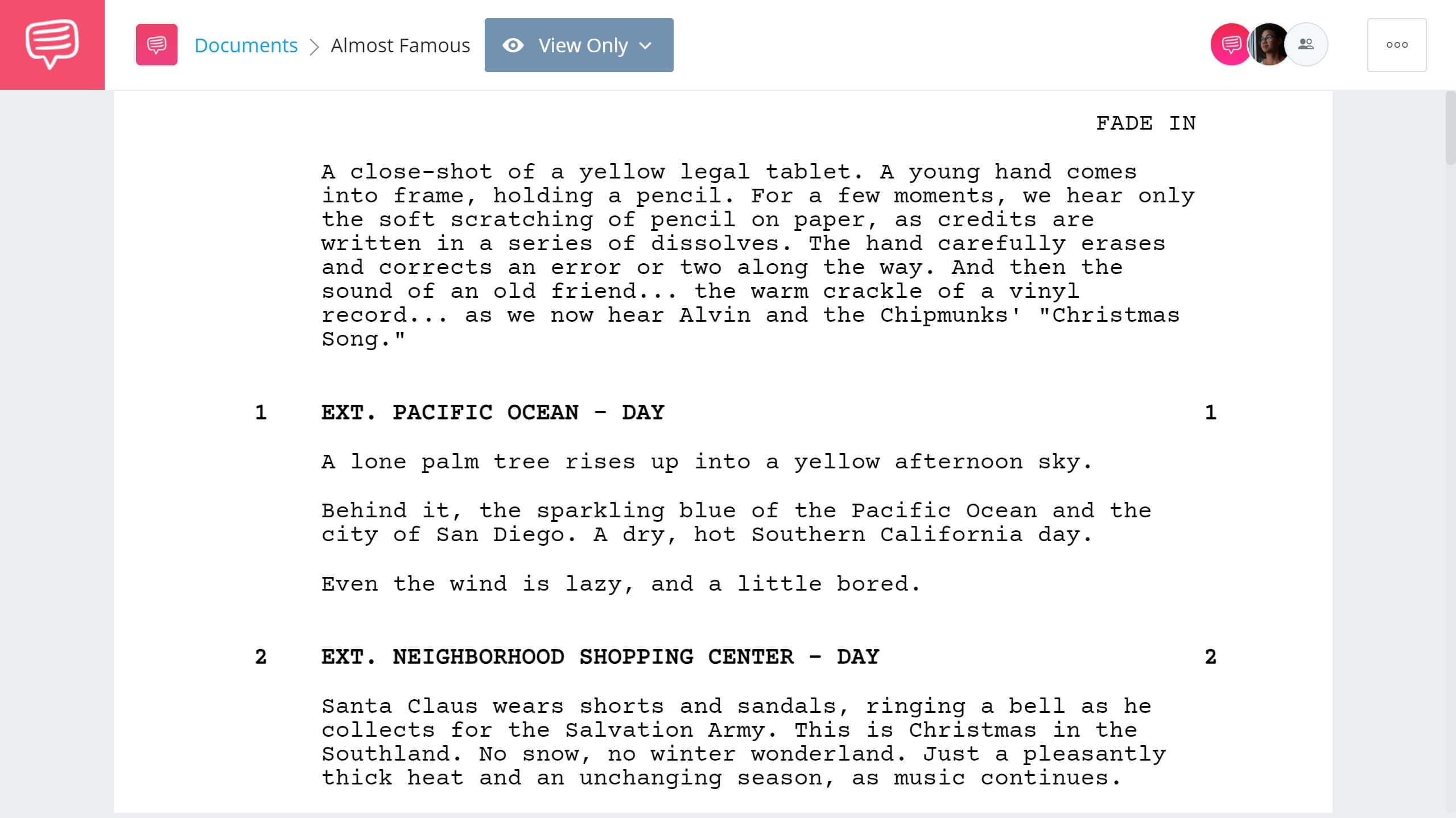 Best Original Screenplay Academy Award - Almost Famous Full Script PDF Download - StudioBinder Screenwriting Software
