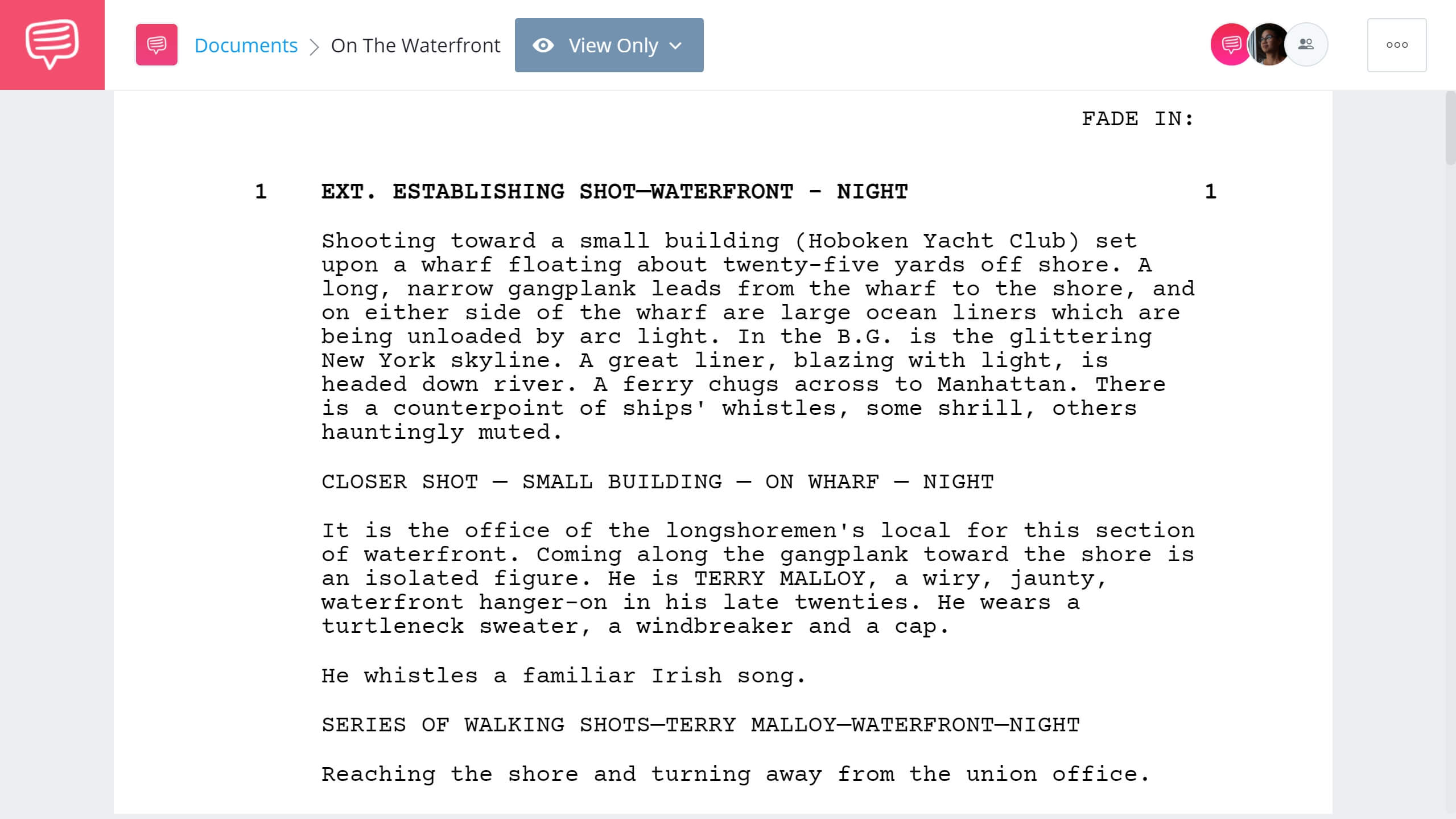 Best Original Screenplay Academy Award - On The Waterfornt Full Script PDF Download - StudioBinder Screenwriting Software