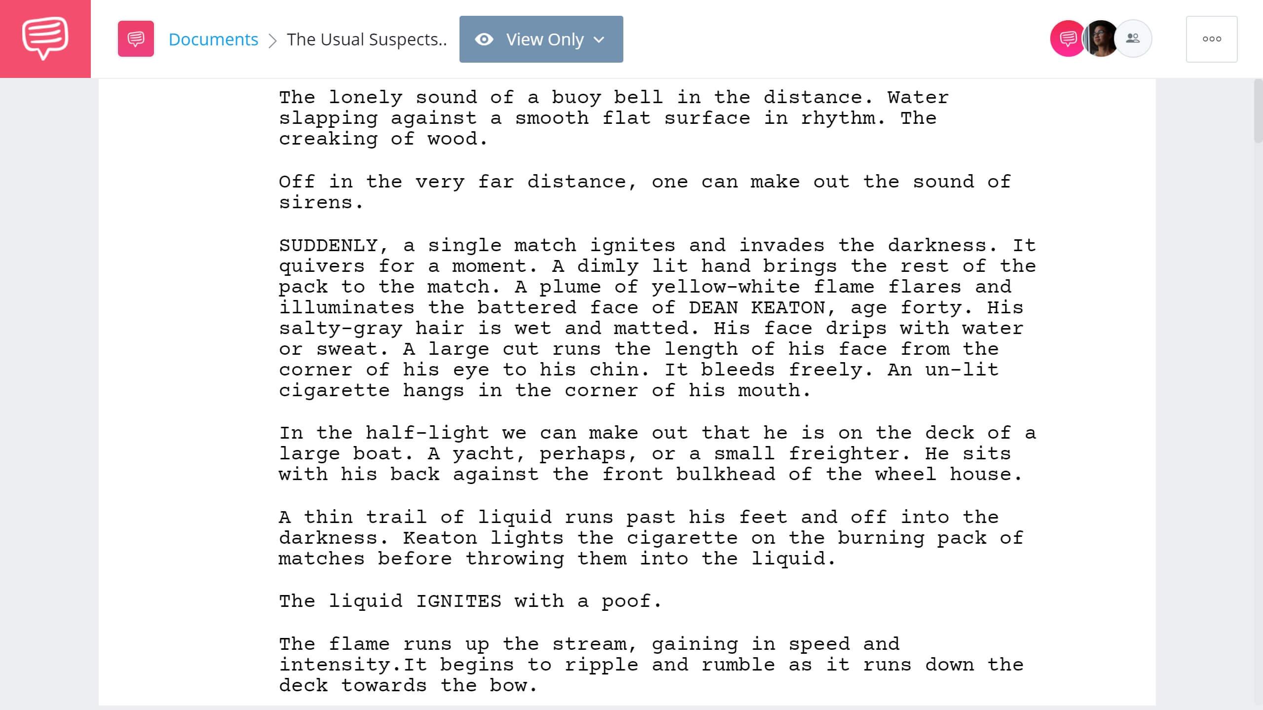 Best Original Screenplay Academy Award - The Usual Suspects Full Script PDF Download - StudioBinder Screenwriting Software