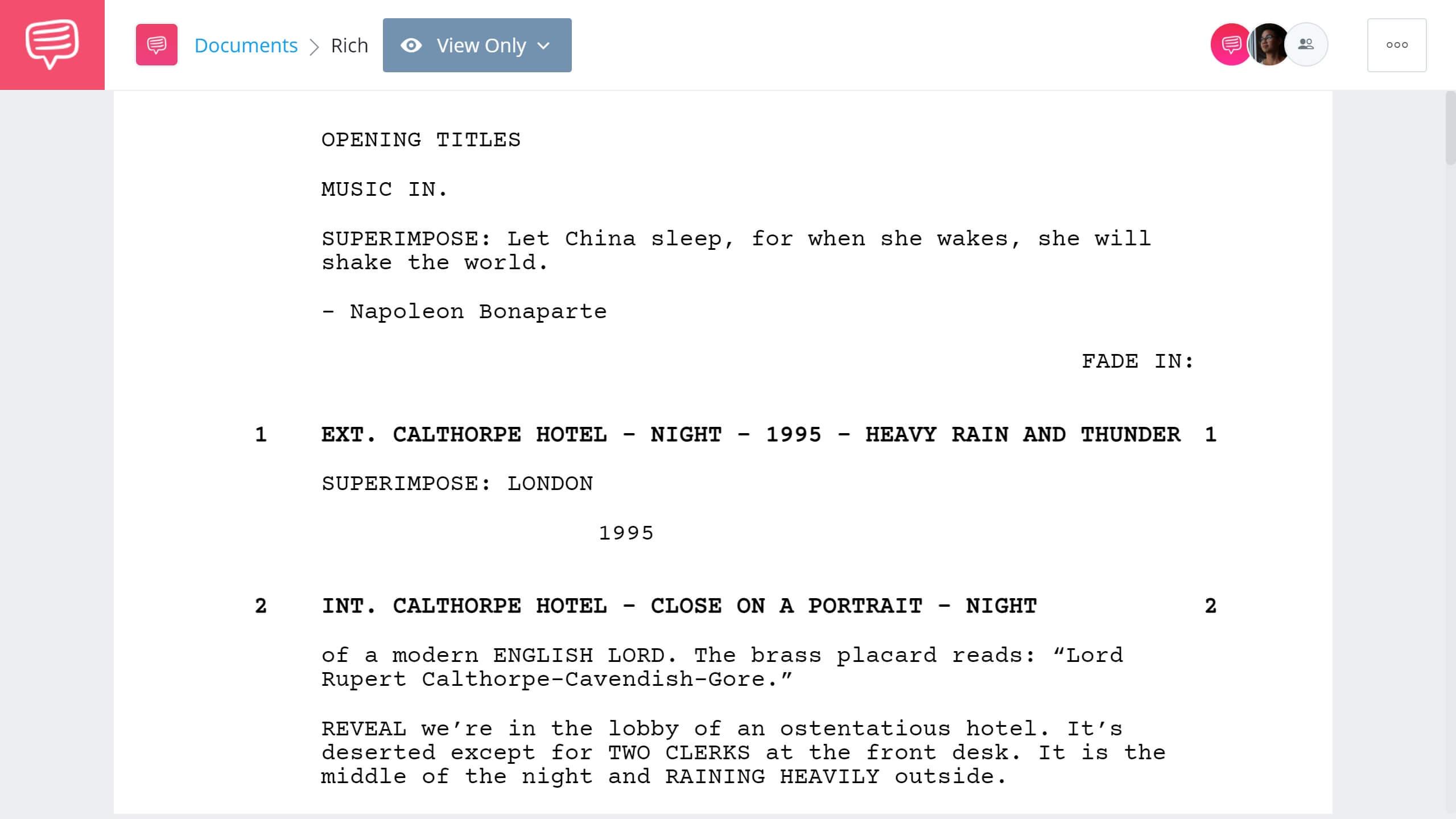 Crazy Rich Asians Script Teardown - Full Script PDF Download - StudioBinder Screenwriting Software