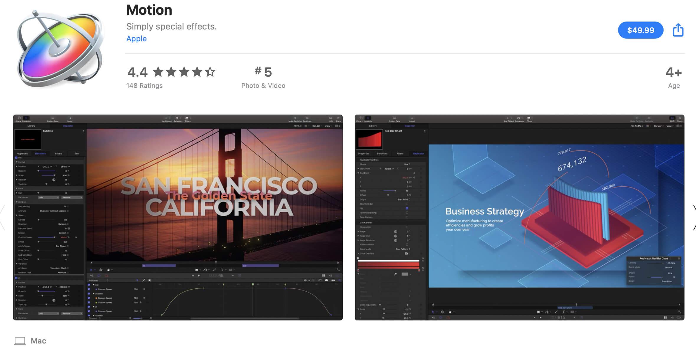 Final Cut Pro or Adobe Premiere - Apple Motion