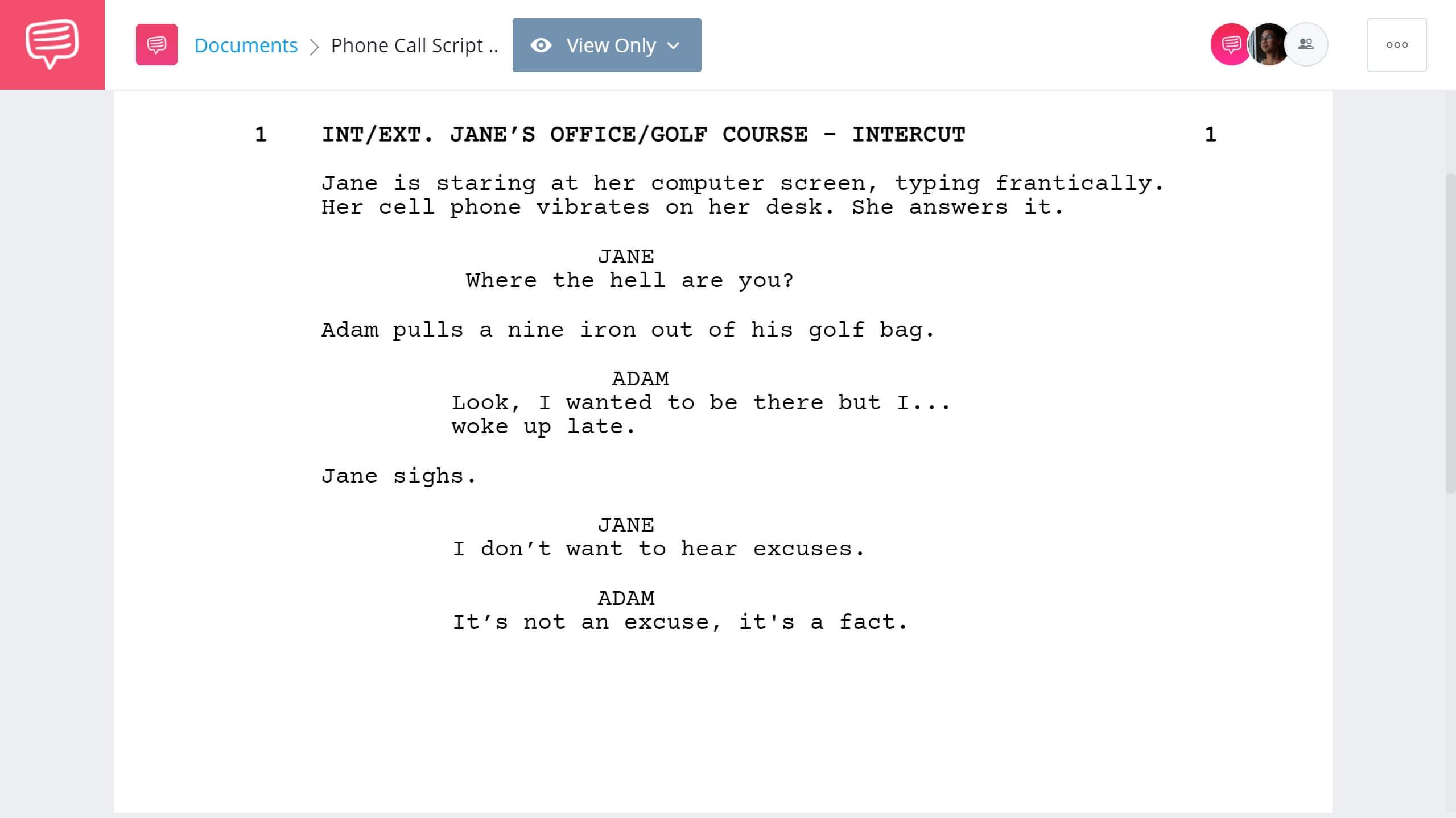 How to Write Telephone Conversation in Screenplay - Double Intercut Example - StudioBinder Screenwriting Software