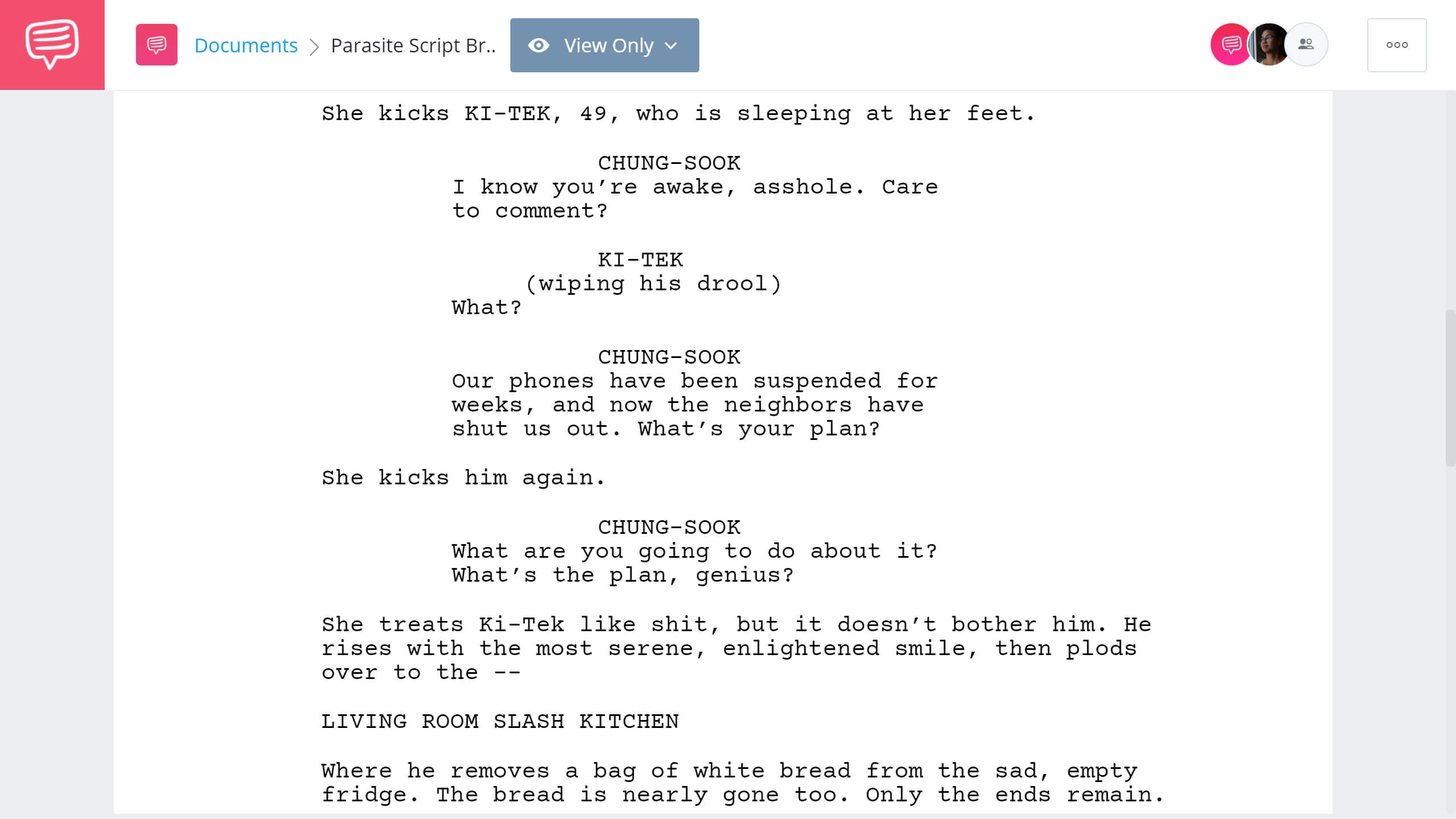 Parasite Script Breakdown - Best Quotes - StudioBinder Screenwriting Software