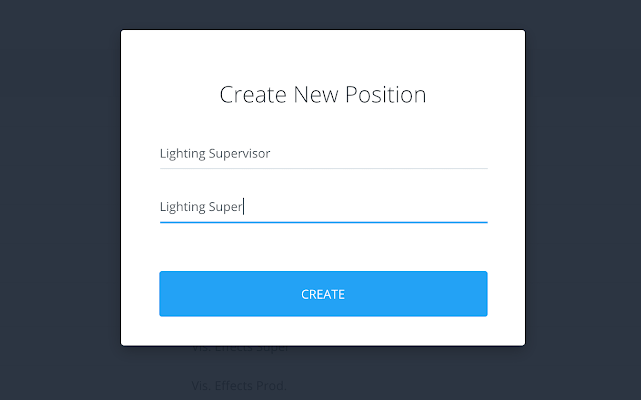 Position name - Position short name