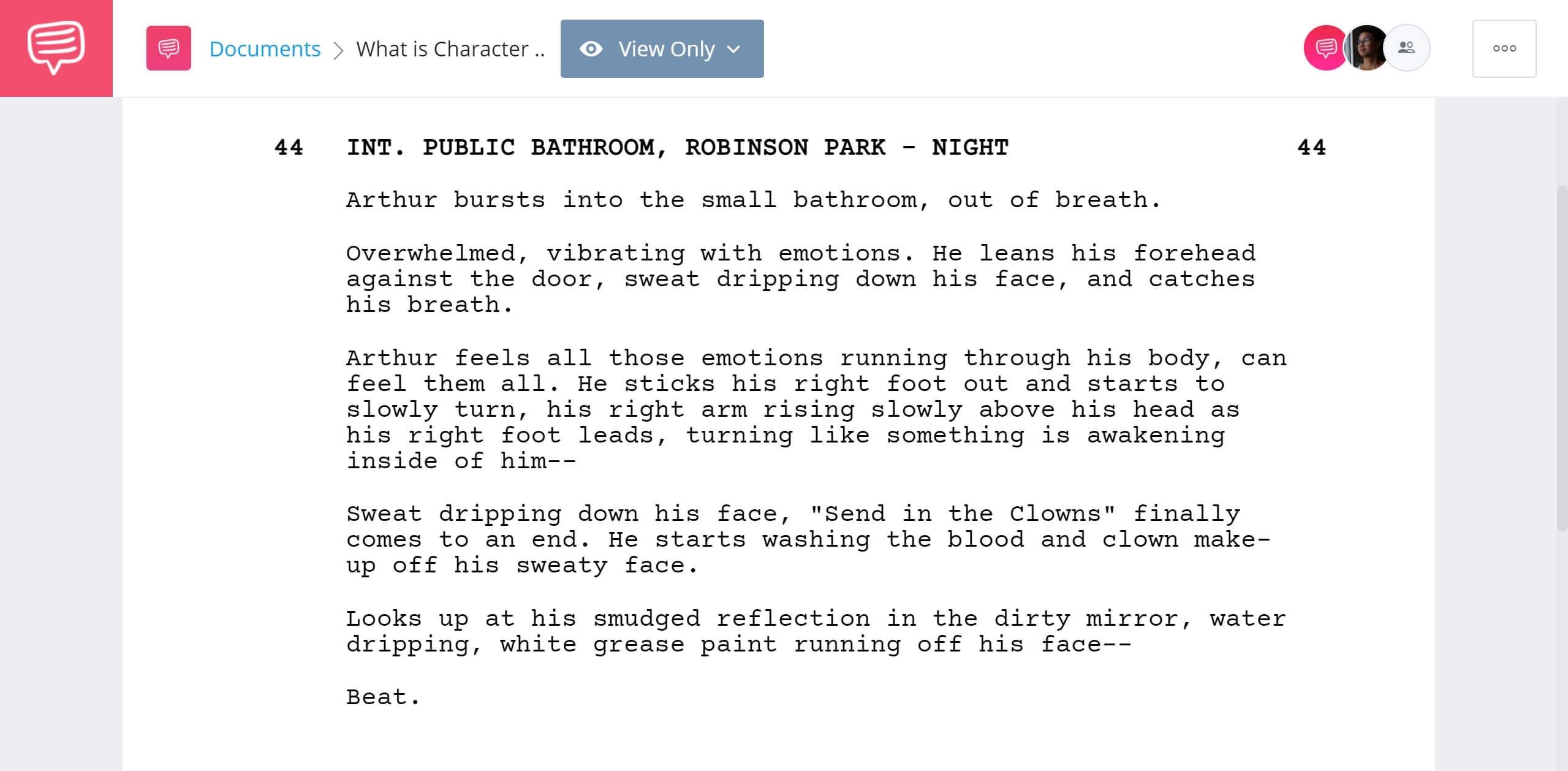 What is Character Study - Joker Example - StudioBinder Screenwriting Software