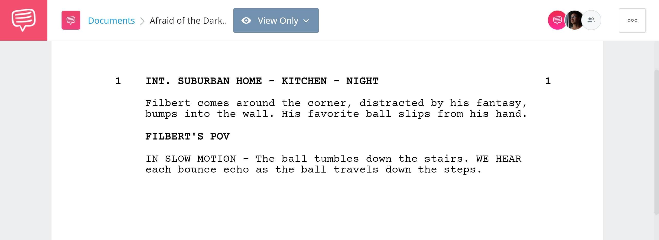 how to write a movie script - afraid of the dark - studiobinder screenwriting feature - camera shot