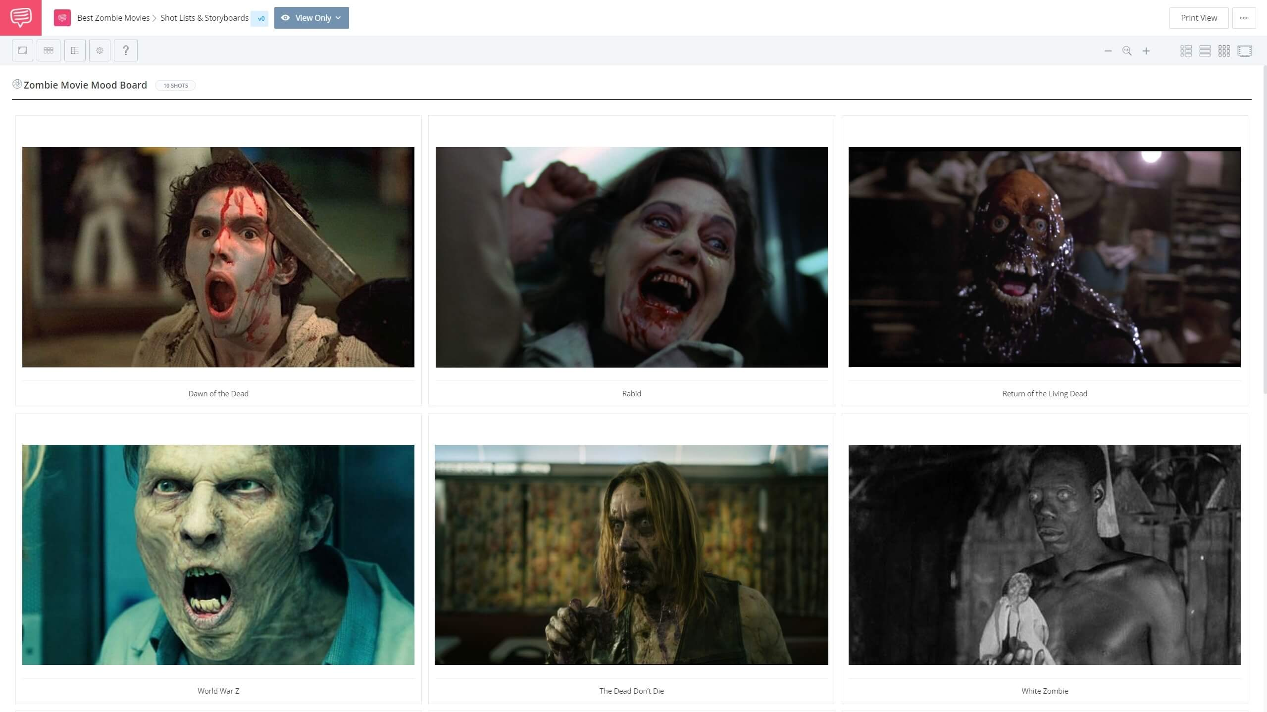 Best Zombie Movies - Zombie Movie Moodboard - StudioBinder Shot Listing Software
