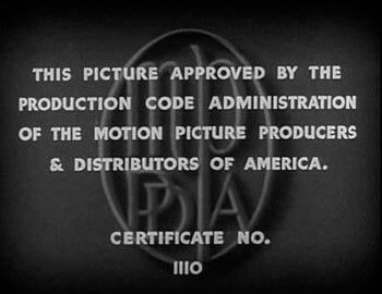 Hays Code 1934 • MPPDA Seal of Approval