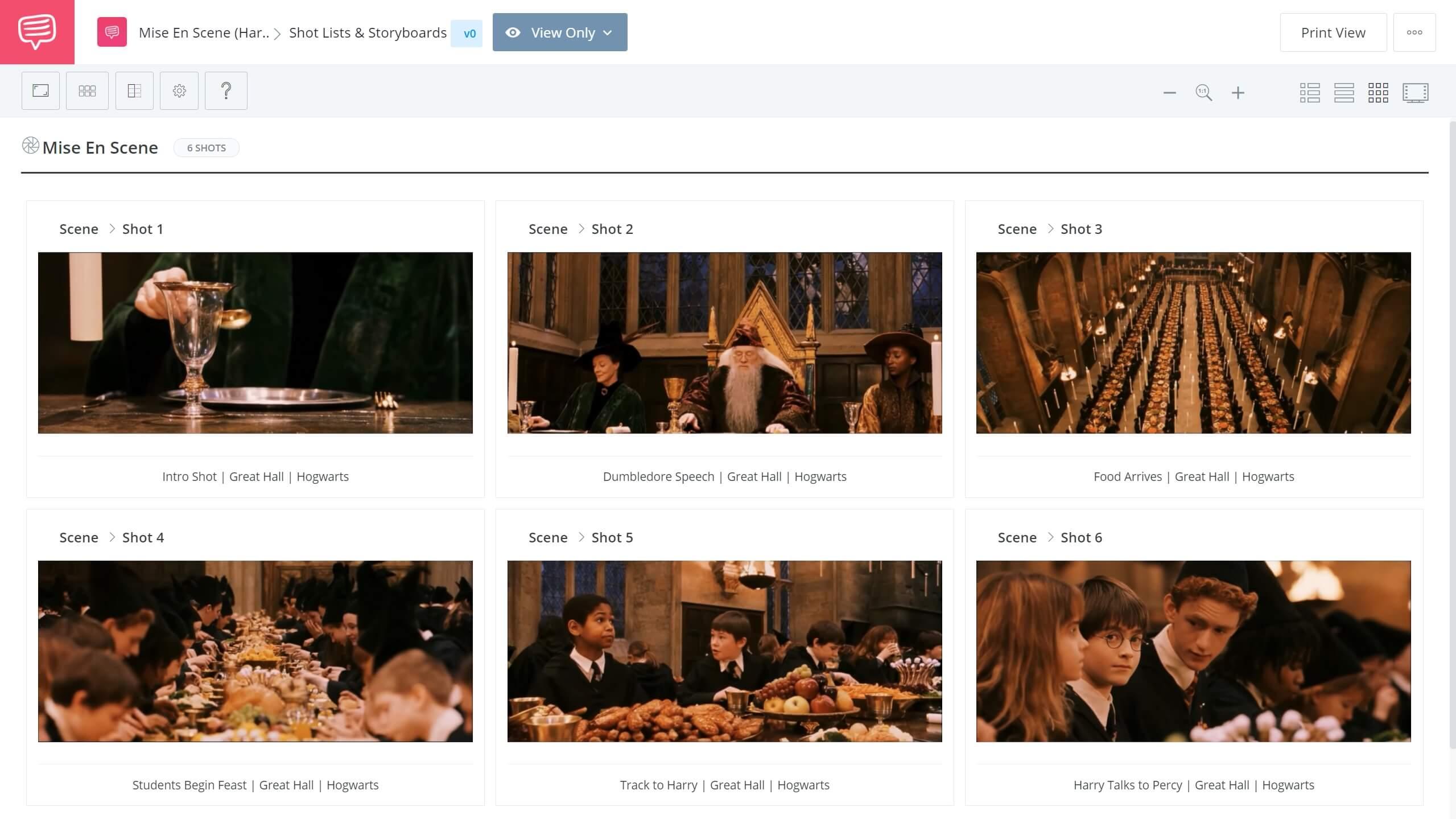 Mise-en-scene-Harry-Potter-storyboard - StudioBinder Screenwriting Software