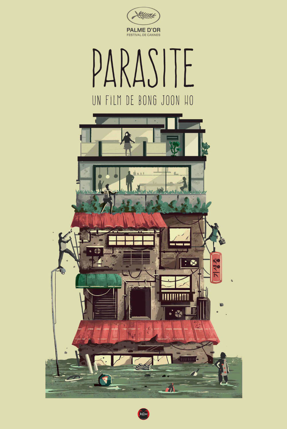 Parasite movie analysis in poster form