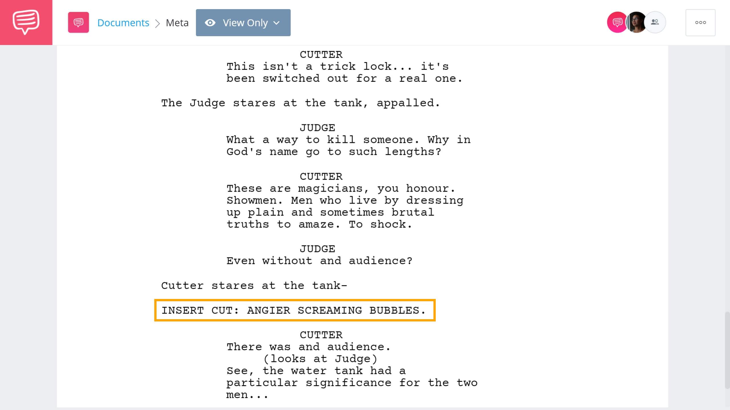Screenwriting Terms - INSERT Example - StudioBinder Screenwriting Software