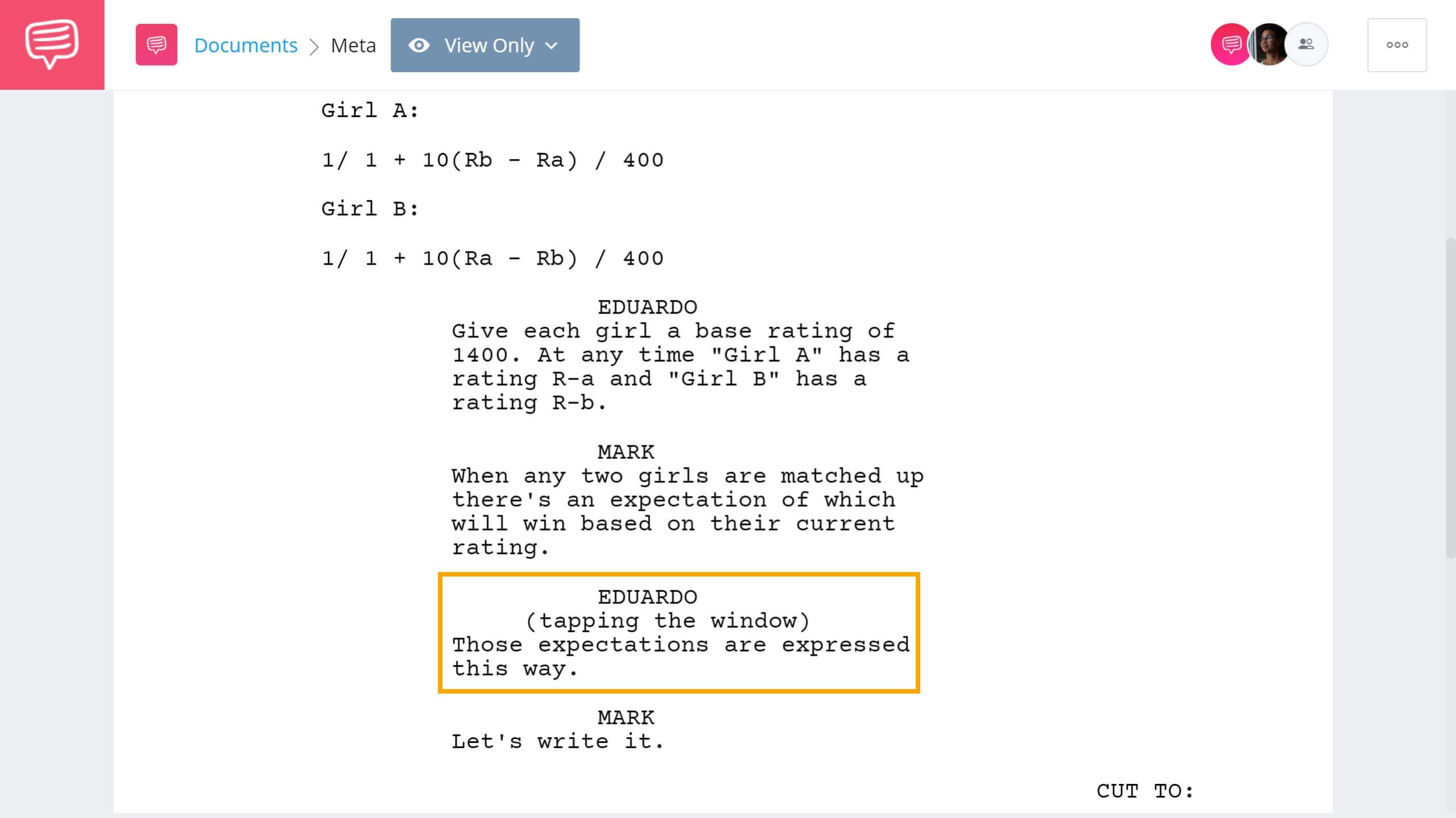 Screenwriting Terms - Parenthitical Example - StudioBinder Screenwriting Software