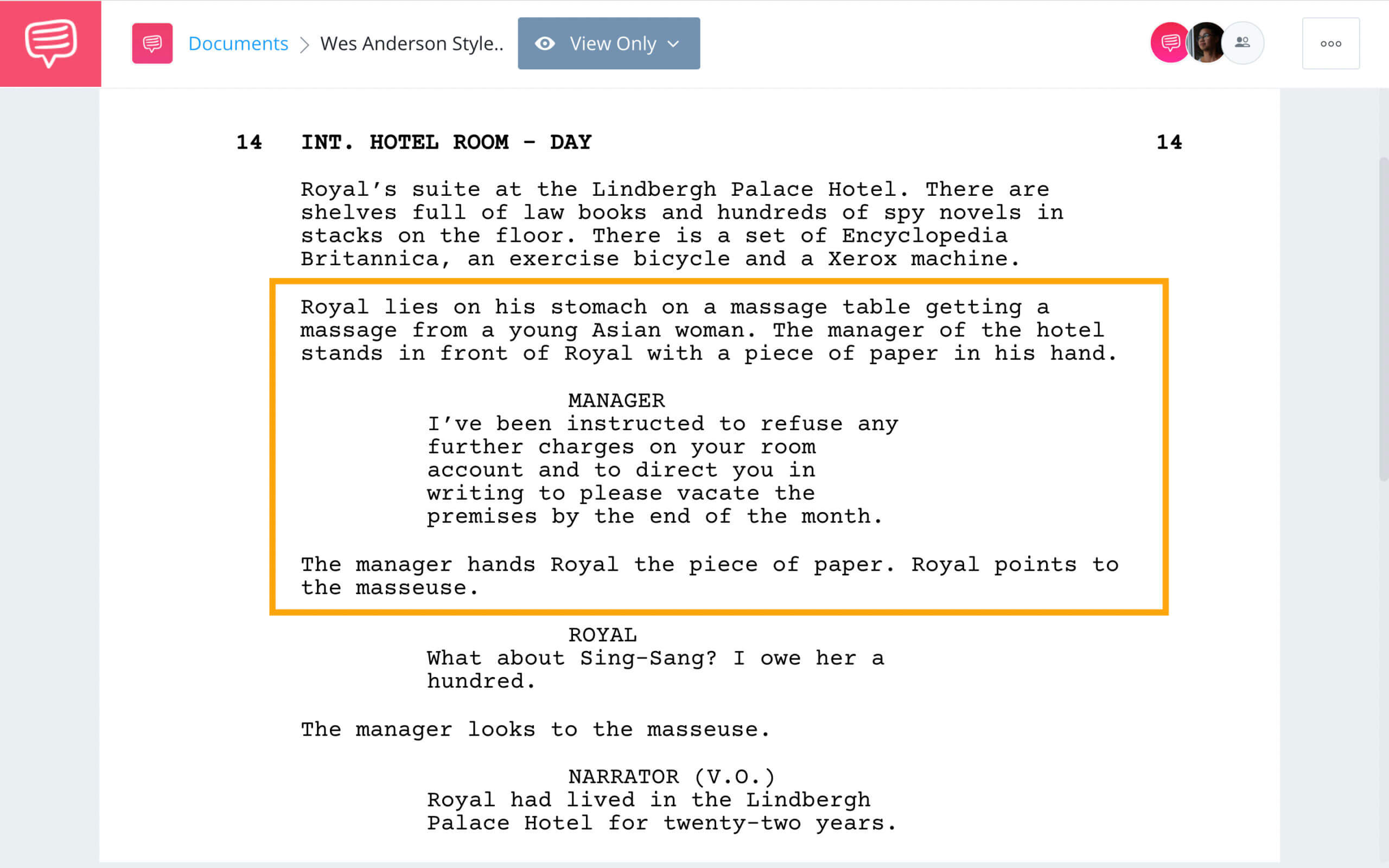 Wes Anderson Style - The Royal Tenebaums 1 - StudioBinder Screenwriting Software