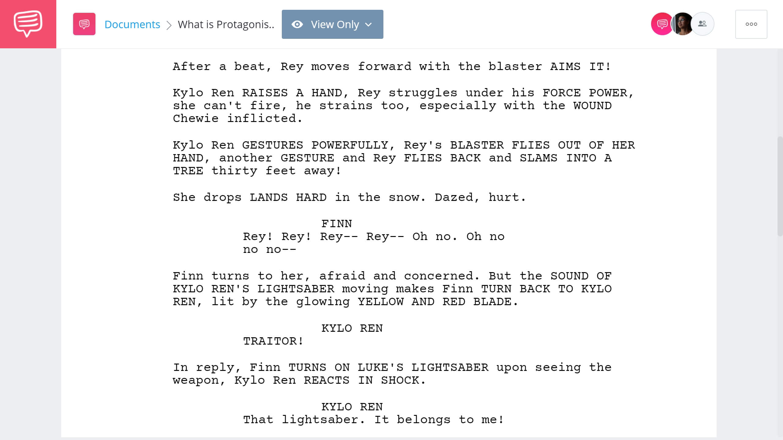 What is a Protagonist - Star Wars Example - StudioBinder Screenwriting Software