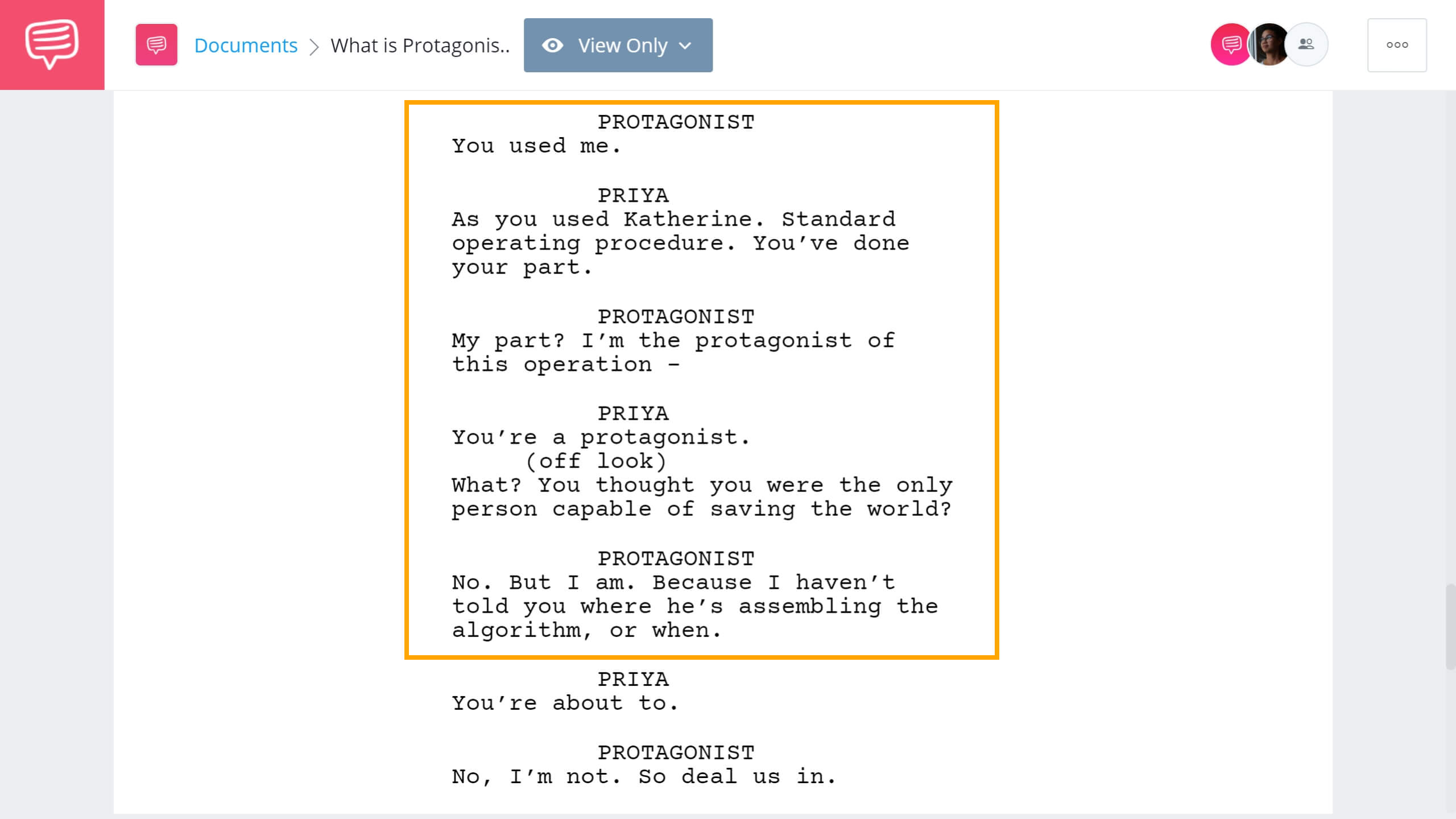 What is a Protagonist - Tenet Example - StudioBinder Screenwriting Software