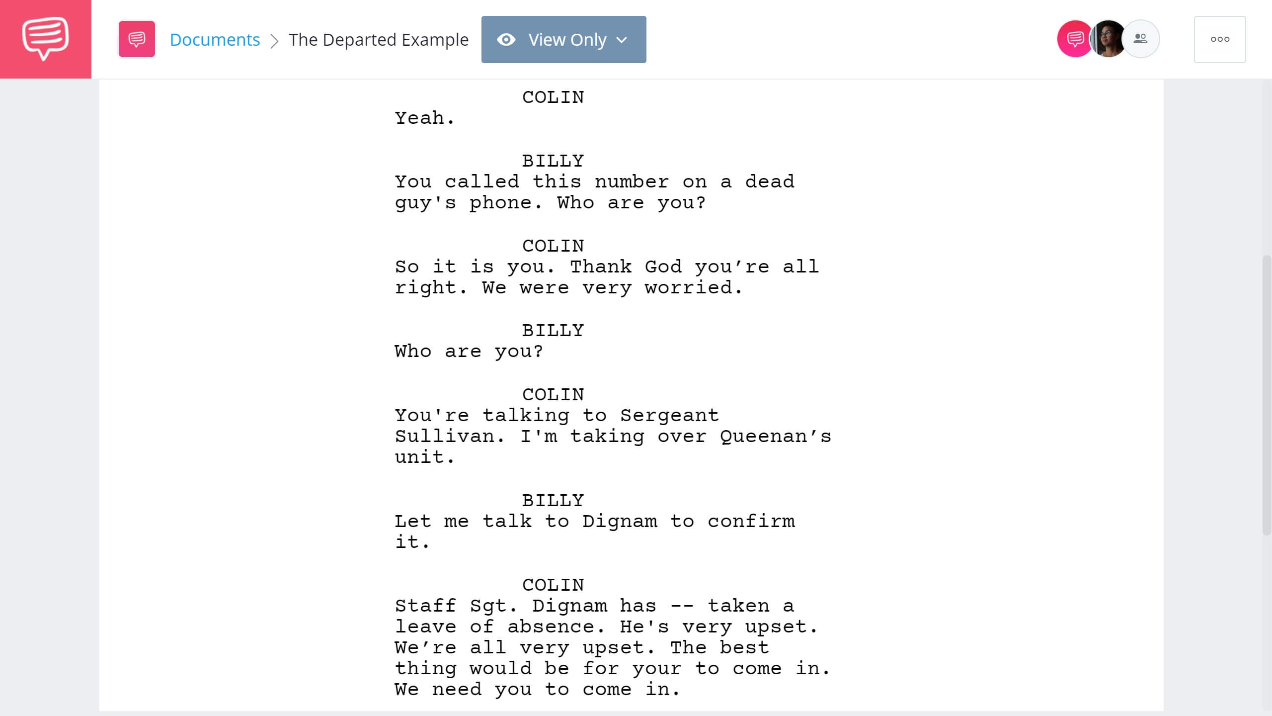 How to Write Dual Protagonist - The Departed First Example - StudioBinder Screenwriting Software