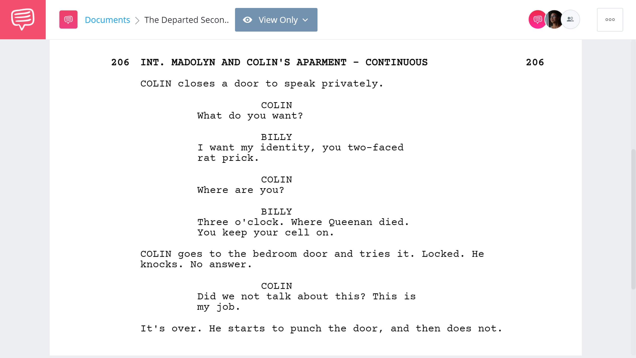 How to Write Dual Protagonist - The Departed Second Example - StudioBinder Screenwriting Software