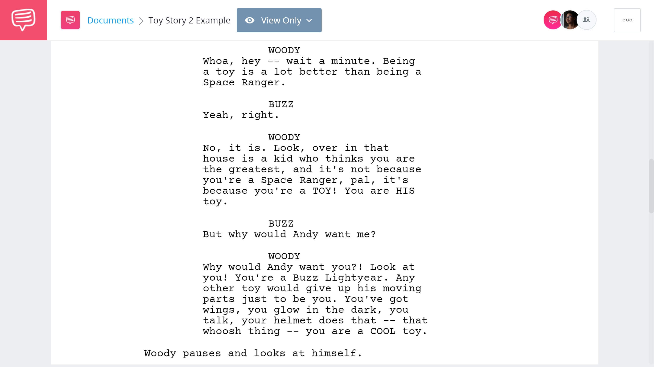 How to Write Dual Protagonist - Toy Story Second Example - StudioBinder Screenwriting Software